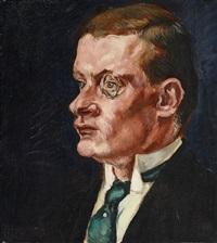 männliches portrait by gert heinrich wollheim