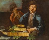 zwei käseverkäufer by giacomo francesco cipper