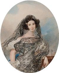 portrait of giovanina pacini by karl pavlovich bryullov