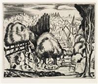 paysage (le morin) by andré derain