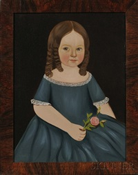 alice atwood wearing a blue dress and holding a pink rose by american school-prior-hamblen (19)