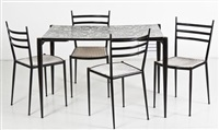 a table and chairs (set of 5) by lucienne day