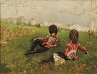 coldstream drummer boys by james jacques joseph tissot