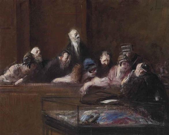 scène de tribunal pièces à conviction by jean louis forain
