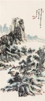 高林听潮 by huang binhong