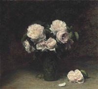 roses dans un verre by henri fantin-latour