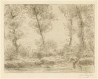 les bords de la liane (+ les bouleaux; 2 works) by alphonse legros