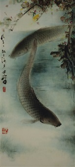 a pair of carp by lee man fong