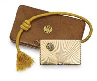 cigarette case (w/orig. leather case) by gabriel niukkanen