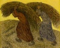 bringing in the hay by cornelis albert van assendelft