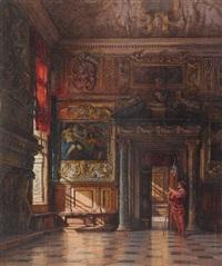 venedig - die sala dell'anticollegio im dogenpalast by emanuel stöckler