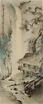 waterfall landscape by lee man fong