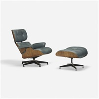 670 lounge chair and 671 ottoman (pair) by charles and ray eames