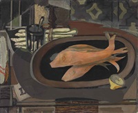 nature morte au poisson by georges braque