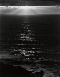 sundown, the pacific by ansel adams
