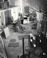 der künstler und sein atelier in calamayor (joan miró) by bert van bork