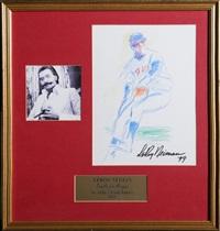 baseball player by leroy neiman