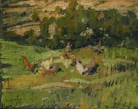 corral con gallinas by joaquín vaquero palacios