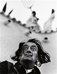 winston churchill * salvador dali * matisse * ingrid bergman. together, 4 photographs by philippe halsman