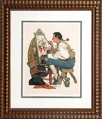 ye pipe and bowl by norman rockwell