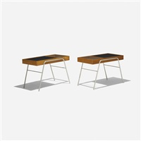 occasional tables (pair) by milo baughman