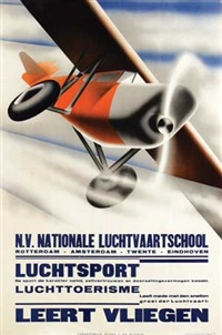 leert vliegen nat. luchtvaartschool by kees van der laan