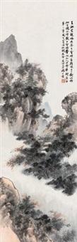 云横秀岭图 by qi dakui