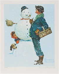snowman by norman rockwell