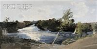 kennebec river bend at skowhegan by rackstraw downes
