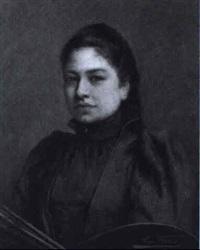 porträt einer malerin by leon lierbo
