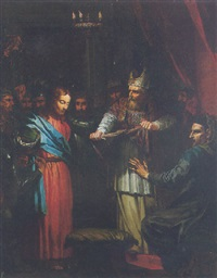 christ before caiaphas and anneas by jean-baptiste corneille