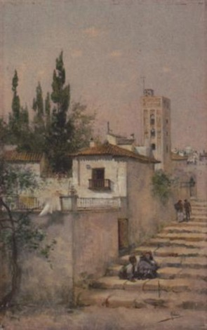 treppe in einer spanischen stadt by aldaz