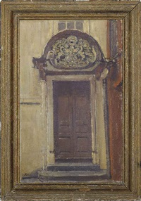 porch entrance to merchant taylor court, brighton by paul ayshford methuen