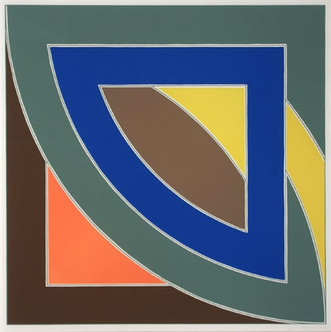 river of ponds i from the newfoundland series by frank stella