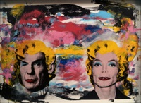 spock/mj marilyn by mr. brainwash