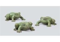 frog(a set of 3) by satoshi yabuuchi