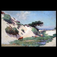 cows in dunes by william adam