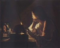 the repentant magdalen by georges de latour