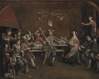 peasants merrymaking in a tavern by egbert van heemskerck the elder