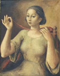 figura femenina com colar by gregorio toledo