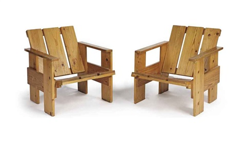 easy chairs 2 works by gerrit rietveld