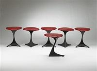tabourettli theatre stools (set of 6) by santiago calatrava