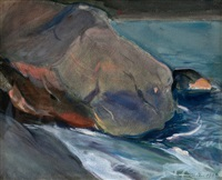 cliffs on the shore by magnus enckell