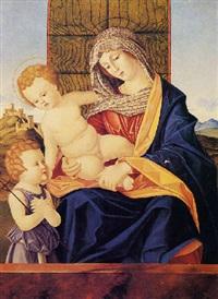 madonna col bambino e san giovannino by francesco rizzo da santacroce