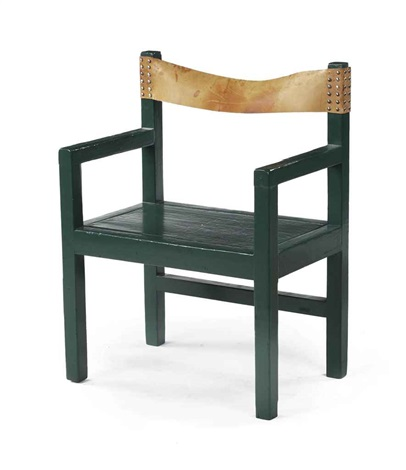 upright armchair by gerrit rietveld