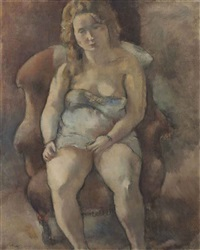 marcelle assise by jules pascin