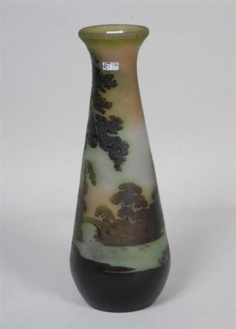 vase paysage lacustre by émile gallé