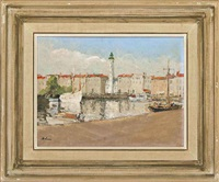 la rochelle, the old harbor by paul ayshford methuen