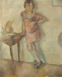 fillette en rose by jules pascin