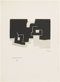 le sujet est la clairière de son corps (set of 4) by eduardo chillida